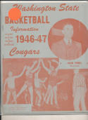 1946 - 1947 Washington State Basketball press Media guide bxpre67