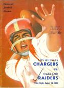 August 19, 1960 Oakland Raiders vs Los Angeles Chargers 3rd football program