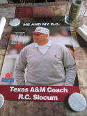 1992 Texas A&M 12-0  Record Poster R.C. Slocum Coach