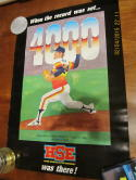 Nolan ryan 4000 strikeout 7/11 1985 home sports entertainment poster bk2
