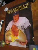 Goose Gossage New York Yankees Mizuno glove promo poster b3