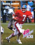 1987 Superbowl 21 XXI  football Media Guide John Elway Broncos