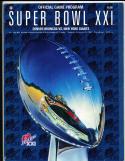 1987 Superbowl 21 XXI  football program Broncos vs Giants bxsb