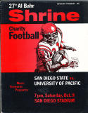1971 10/9 San Diego State vs Pacific Shrine football program