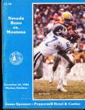 1984 University of Nevada vs Montana football program