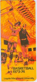 1973 Loyola Marymount Basketball Media Guide bkbx6.1504