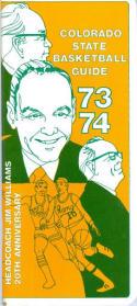 1973 Colorado State Basketball Media Guide bkbx6.1458