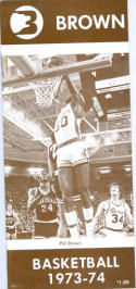1973 Brown Basketball Media Guide bkbx6.1444