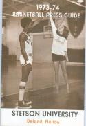 1973 Stetson Basketball Media Guide bkbx6.1555