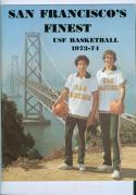 1973 San Francisco Basketball Media Press Guide bkbx9