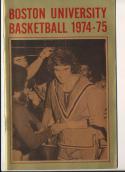 1974 - 1975 Boston university Basketball press Media guide bx74