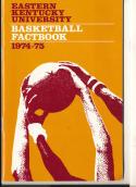 1974 - 1975 Eastern Kentucky university Basketball press Media guide bx74