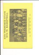 1974 - 1975 San Francisco State university Basketball press Media guide bx74
