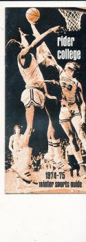 1974 - 1975 Rider Basketball press Media guide bx74