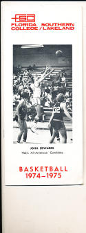 1974 - 1975 Florda Southern College  Basketball press Media guide bx74