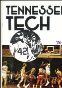 1974 - 1975 Tennessee Tech university Basketball press Media guide bx74