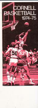 1974 - 1975 Cornell Basketball press Media guide bx74