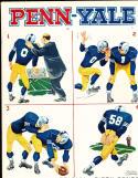 1958 11/8 Penn vs Yale Football program