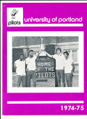 1974 - 1975 Portland university Basketball press Media guide bx74