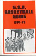 1974 - 1975 Georgia State university Basketball press Media guide bx74