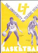 1974 - 1975 Toledo university Basketball press Media guide bx74