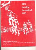 1974 - 1975 Bradley university Basketball press Media guide bx74