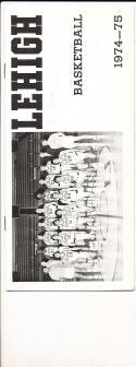 1974 - 1975 Lehigh Basketball press Media guide bx74