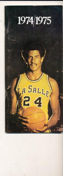 1974 - 1975 La Salle Basketball press Media guide bx74