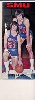 1974 - 1975 SMU Basketball press Media guide bx74