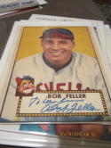 Bob Feller signed 8x10 1952 topps  photo 8x10