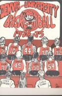 1974 - 1975 Denver university Basketball press Media guide bx74