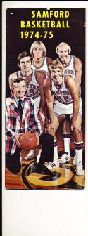 1974 - 1975 Samford Basketball press Media guide bx74