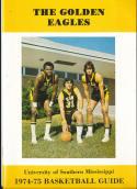 1974 - 1975 Southern Mississippi university Basketball press Media guide bx74