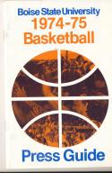 1974 - 1975 Boise State University Basketball press Media guide bx74