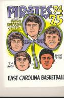 1974 - 1975 East Carolina university Basketball press Media guide bx74