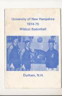 1974 - 1975 New Hampshire university Basketball press Media guide bx74