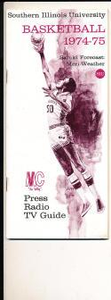 1974 - 1975 Southern Illinois University Basketball press Media guide bx74