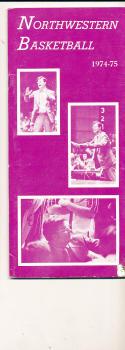1974 - 1975 Northwestern Basketball press Media guide bx74