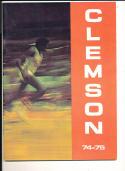 1974 - 1975 Clemson university Basketball press Media guide bx74