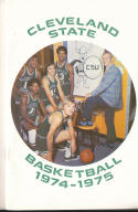 1974 - 1975 Cleveland State university Basketball press Media guide bx74