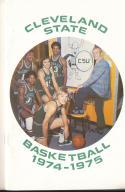 1974 - 1975 Cleveland State university Basketball press Media guide bx74