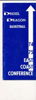 1974 - 1975 Drexel Dragon Basketball press Media guide bx74