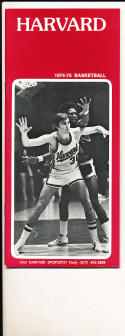1974 - 1975 Harvard Basketball press Media guide bx74