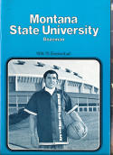 1974 - 1975 Montana State university Basketball press Media guide bx74