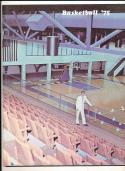 1974 - 1975 Pepperdine university Basketball press Media guide bx74