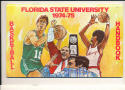 1974 - 1975 Florida State university Basketball press Media guide bx74