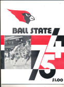 1974 - 1975 Ball State university Basketball press Media guide bx74