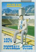 Football Media Guide 1974 Colorado University nm -Box17