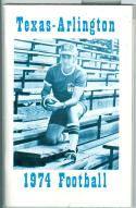 Football Media Guide 1974 Texas University Arlington nm -Box17