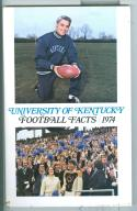Football Media Guide 1974 Kentucky University em -Box17